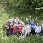 """Uczestnicy, prowadzący i organizatorzy szkolenia """"Szkoła Trenerów dla Dobrego Klimatu""""."""