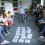 """Warsztat """"Co Ty możesz zrobić dla Dobrego Klimatu"""", prowadzi trenerka Anna Sobańska."""