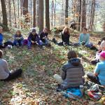 Zajęcia prowadzone były w grupie w sercu przyrody.