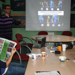 Warsztaty to także nauka prezentacji swoich pomysłów.