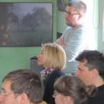 Piotr Subik (Dziennik Polski), Aleksandra Czarnecka (Narodowy Fundusz Ochrony Środowiska i Gospodarki Wodnej) oraz uczestnicy warsztatów.