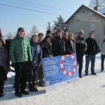W czasie obu dni warsztatowych spadła duża ilość śniegu. Uczestnicy szkolenia po zajęciach prowadzonych przez Piotra Subika.