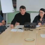 Konferencję prowadzą przedstawiciele zawiązanego Bielskiego Alarmu Smogowego, którzy tłumaczą przybyłym dziennikarzom jakie jest zanieczyszczenia w mieście.